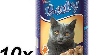 Akinu Caty kousky v omáčce s drůbežím pro kočky 10 x 416g