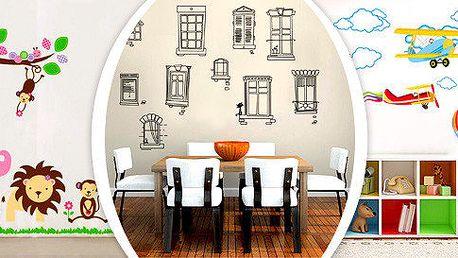 Dekorativní velkoformátové samolepky na stěnu