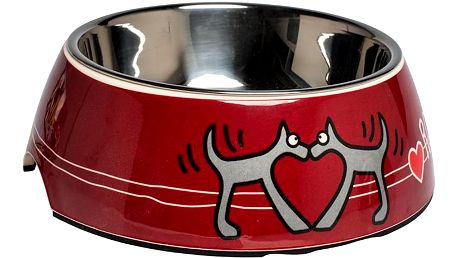 Rogz BOWLZ Bubble miska S Red Heart 160 ml
