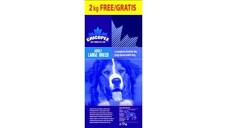 Chicopee Adult Large Breed 15 + 2 kg Zdarma