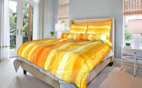 Smolka bavlna povlečení Kola oranžové 200x220 70x90