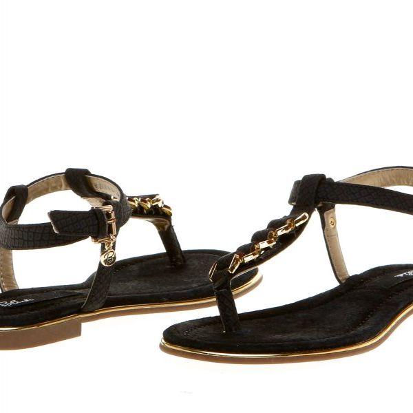 Krásné dámské sandály s ozdobným páskem na nártu