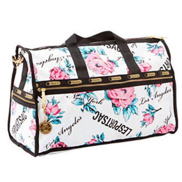 Velká světlá cestovní taška LeSportsac s květy
