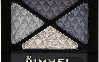 Rimmel London Glam Eyes Quad Eye Shadow 4,2g Oční stíny W - Odstín 004 Smoke Blue