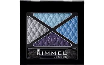 Rimmel London Glam Eyes Quad Eye Shadow 4,2g Oční stíny W - Odstín 002 Smoke Brun