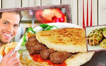 Navštivte nově otevřené bistro The Grill v centru Brna a ochutnejte vynikající originální ČEVABČIČI NA GRILU V DOMÁCÍM PITA CHLEBU! Jen 85 Kč za velkou porci 8 KUSŮ! Navíc zelenina nebo omáčky z našeho salátového baru ZDARMA!