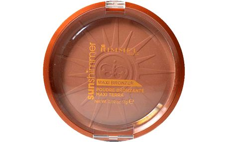 Rimmel London Sun Shimmer Maxi Bronzer Powder 17g Make-up W - Odstín 002 Sun Love