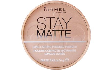 Rimmel London Stay Matte Long Lasting Pressed Powder 14g Make-up W - Odstín 002 Pink Blossom