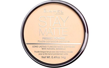 Rimmel London Stay Matte Long Lasting Pressed Powder 14g Make-up W - Odstín 006 Warm Beige
