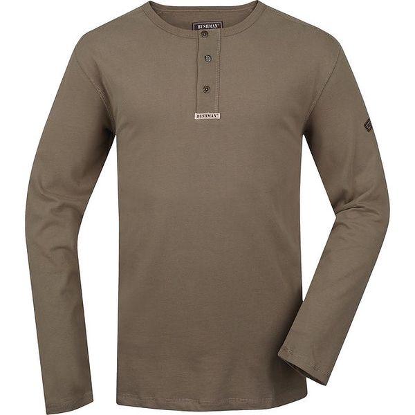 Pánské khaki triko s dlouhými rukávy Bushman