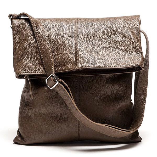 Dámská kožená kabelka v hnědé barvě Luisa Vannini