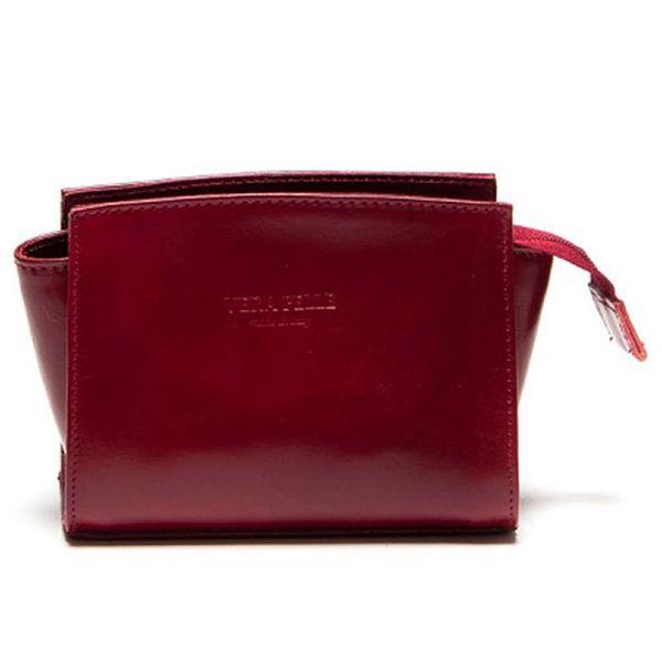 Dámská červená minimalistická kabelka Luisa Vannini