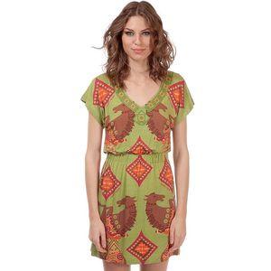 Dámské zelené šaty s potiskem koníků Rosalita McGee