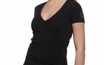 Dámské černé bavlněné tričko Replay