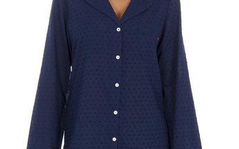 Dámská modrá puntíkatá pyžamová košile Tommy Hilfiger
