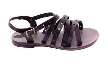 Dámské černé kožené sandálky s hvězdičkami Bagatt