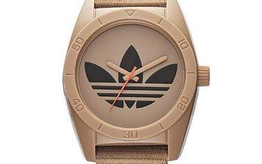 Hnědé hodinky s logem Adidas