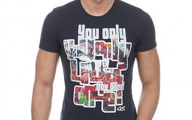 Bavlněné pánské tričko oblíbené značky s.Oliver