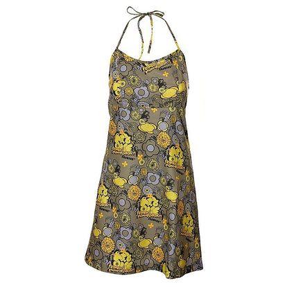 Dámské šedé šaty Rejoice s veselým barevným potiskem
