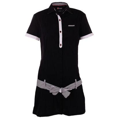 Dámské černé košilové šaty 7camicie