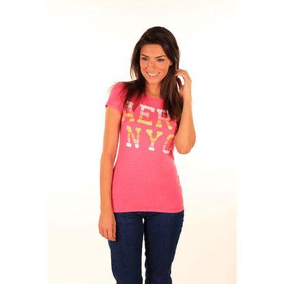 Dámské růžové tričko s nápisem Aéropostale