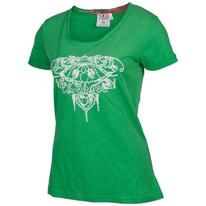Dámské zelené tričko Chiemsee s bílou výšivkou