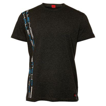 Pánske tmavo šedé tričko so zvislou potlačou Sam 73