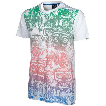 Pánské bílé tričko Chiemsee s africkým motivem