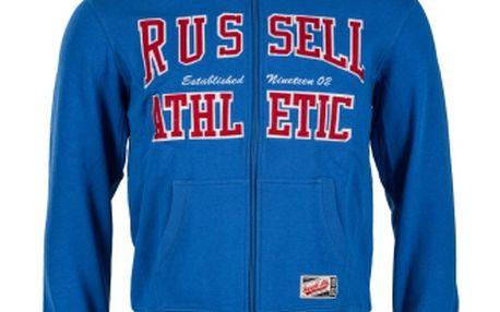 Russell Athletic ARCH LOGO ZIP HOOD modrá L