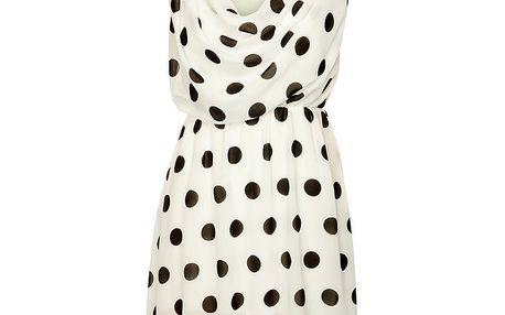 Dámské bílé puntíkované šaty Skulls