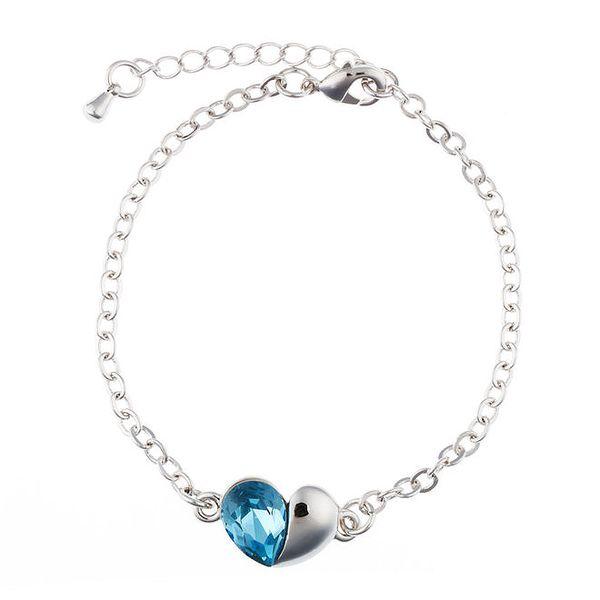 Dámský náramek s modrým srdíčkem krystalem Swarovski Elements Fifi Ange