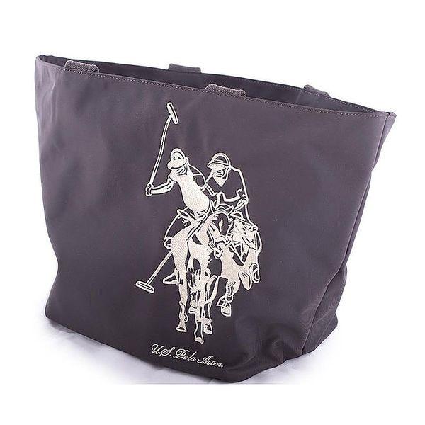Dámská tmavě hnědá nylonová taška U.S. Polo
