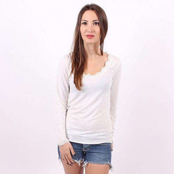 Dámské krémové tričko Enelle