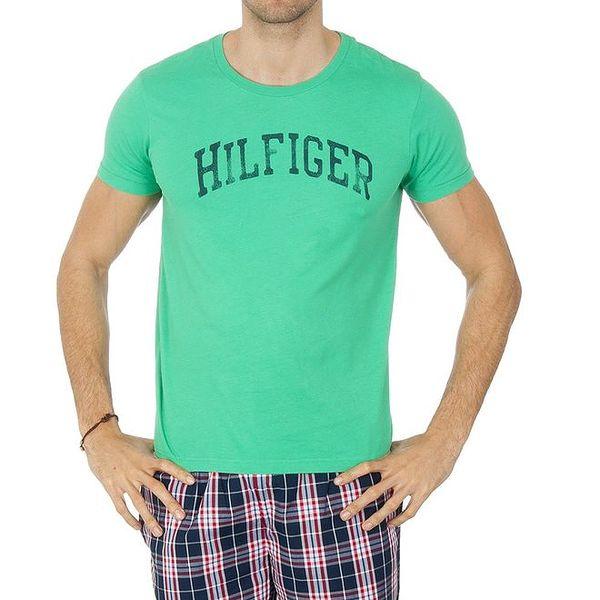 Pánské zelené tričko s nápisem Tommy Hilfiger