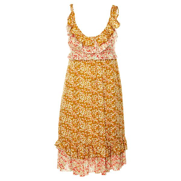 Dámské béžové volánové šaty Phard