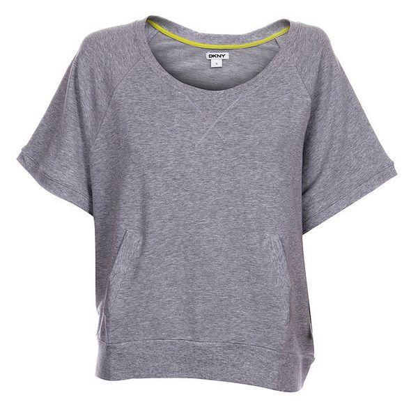 Dámské světle šedé melírované tričko DKNY