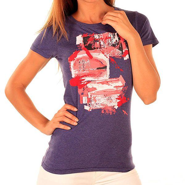 Dámské fialové tričko s potiskem New Caro
