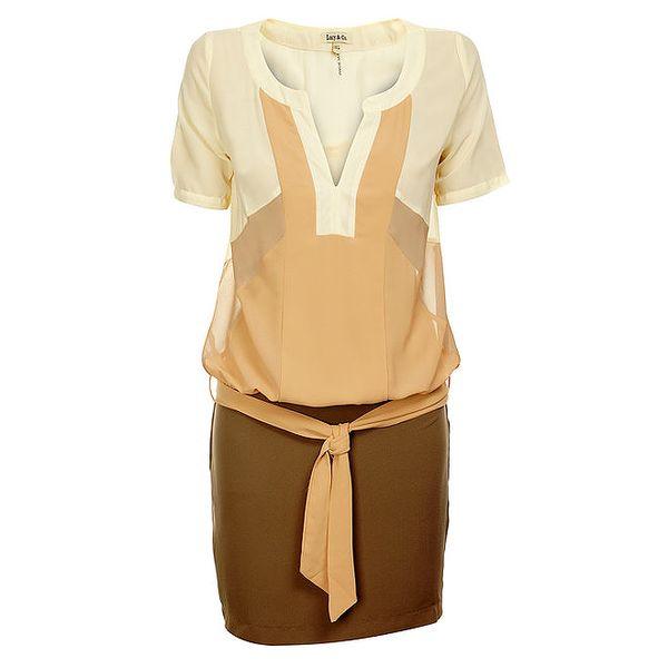 Dámské béžovo-krémové šaty Lucy Paris