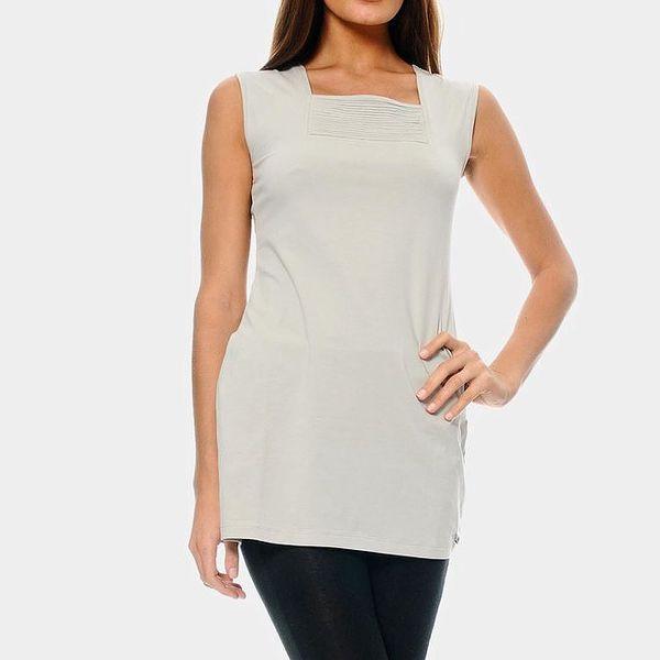 Dámský prodloužený bílý top ODM Fashion