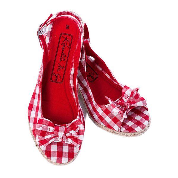 Dámské červeně kostkované sandálky Rosalita McGee