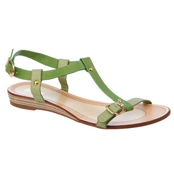 Dámské zelené sandálky Betsy