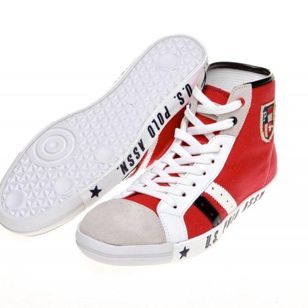 U.S. Polo Assn. Brody 1_Red-Whi, bílá/červená, 44