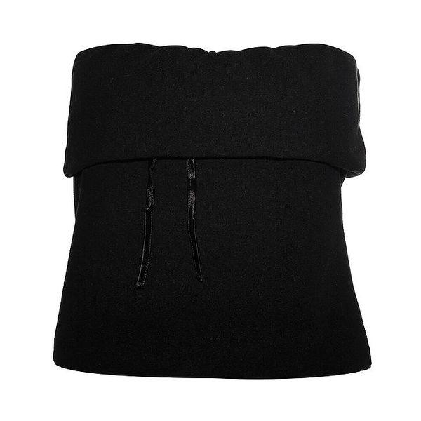 Dámský černý fleecový top Liu.Jo