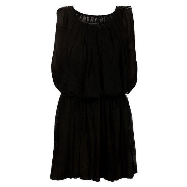 Dámské černé nabírané šaty Victoria Look
