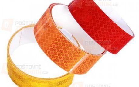 Reflexní nalepovací páska na motorky a automobily - 4 barvy a poštovné ZDARMA! - 15610368