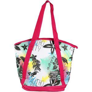 Dámská barevná plážová kabelka s růžovými lemy Authority