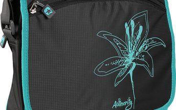 Černá unisex taška s potiskem květiny Authority