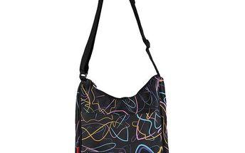 Černá unisex taška s barevným potiskem Authority