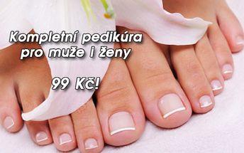 Kompletní mokrá PEDIKÚRA včetně změkčující lázně a jemné relaxační masáže nohou! Nabídka pro muže i ženy! Dopřejte si péči pro zdraví a krásu vašich nohou ve známém salonu Imperial Beauty v samém centru Prahy u metra Náměstí Republiky!