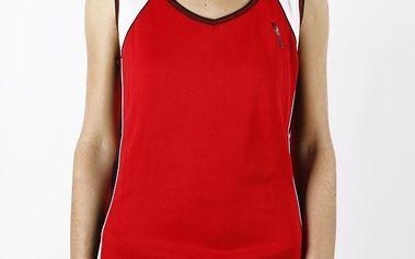 Dámské červené funkční tričko bez rukávů Authority